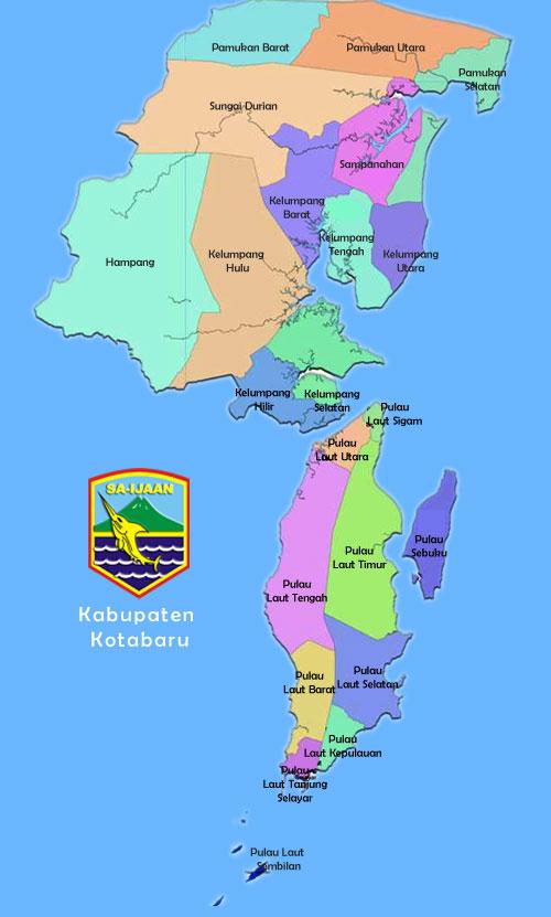Peta Kecamatan Kabupaten Kotabaru
